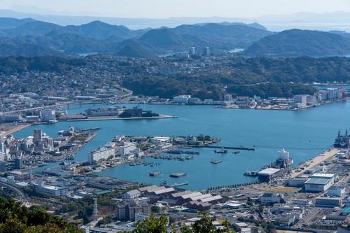 Σασέμπο: Πόλη του Σασέμπο κατά τη διάρκεια της ημέρας, Ναγκασάκι. Ιαπωνία.