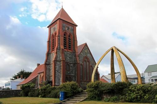 Στάνλεϋ ( Νησιά Φόλκλαντ ): Η Εκκλησία του Χριστού. Καθεδρικός ναός στο Πόρτ Στάνλεϋ. Νησιά Φόλκλαντ. Αργεντινή.