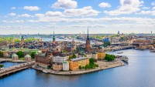 Στοκχόλμη: Πανόραμα του Gamla Stan. Στοκχόλμη. Σουηδία.