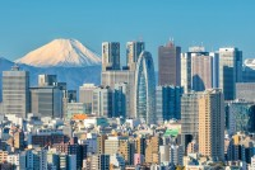 Τόκυο: Ορίζοντας του Τόκιο και του βουνού Fuji. Ιαπωνία.