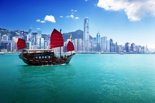 Χονγκ Κονγκ: Το λιμάνι του Χονγκ Κόνγκ. Κίνα.